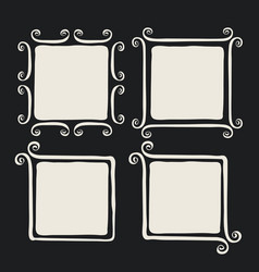 whimsical brush painted frames vector image