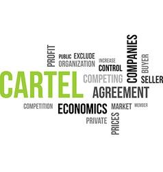 Word cloud cartel vector