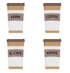 Coffee in a cardboard cup vector