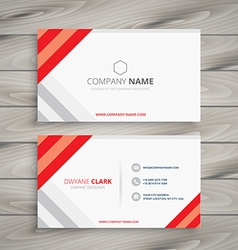 White red business card template vector