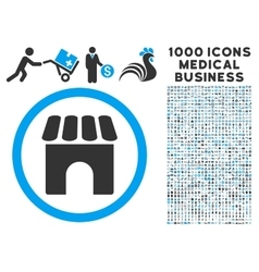 Shop icon with 1000 medical business symbols vector