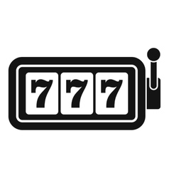 Lucky seven on slot machine icon simple style vector image