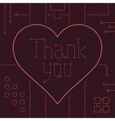 Thank you techno line art bakcground vector