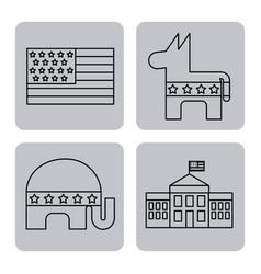 Usa related assorted icons image vector