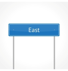 Blue east traffic sign vector
