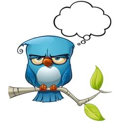 Blue bird serious vector