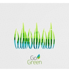 Green grass nature concept vector