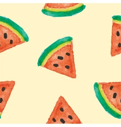 Seamless of watermelon vector