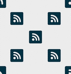 Rss feed icon sign seamless pattern with geometric vector
