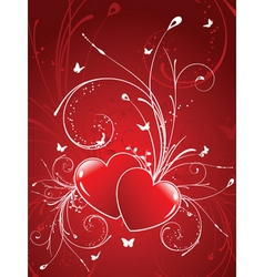 Decorative hearts vector