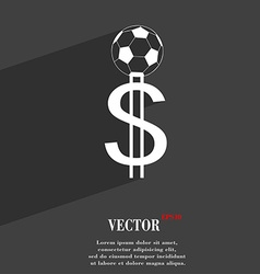 Betting on football money collector bookmaker vector