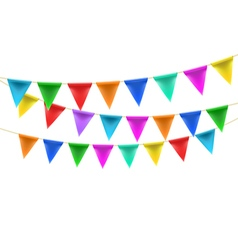 Triangular bunting decoration vector