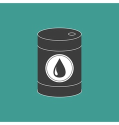 Oil barrel with oil drop sign icon isolated green vector