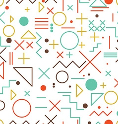 Mathematical symbols seamless pattern with simple vector image