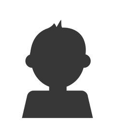 Kid avatar boy icon vector