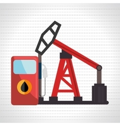 Petrol pump isolated icon design vector