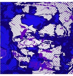 Purple blue background with concentric circles vector image