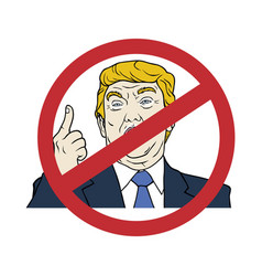 Anti donald trump president of the united states vector