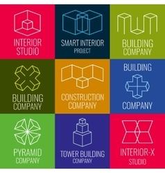 Architectural firm interior design studios vector