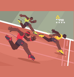 athletics competition sprint vector image vector image