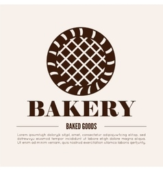 Bakery logotype bakery or bred shop vintage vector