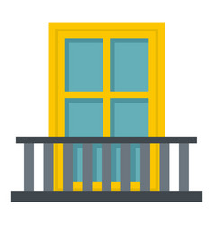 Balcony with a yellow window icon isolated vector