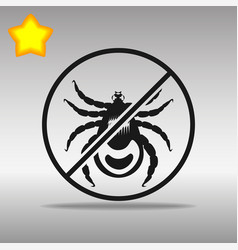 Ban mites black icon button logo symbol vector