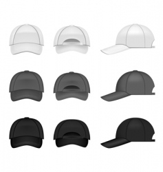baseball cap collection vector image vector image