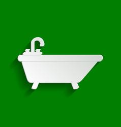 Bathtub sign paper whitish vector