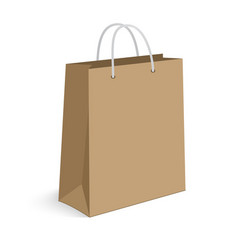 Blank shopping bag on white for advertising and vector image