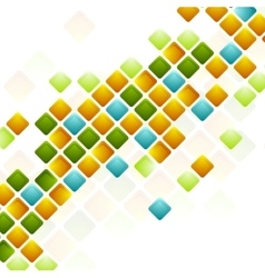 Bright squares abstract geometric background vector