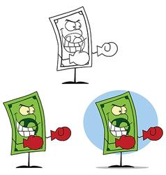 Cartoon cash design vector image vector image