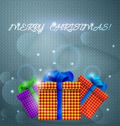Christmas gifts Holiday card vector image