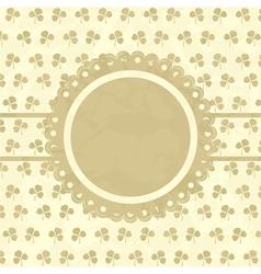 Clover design vintage frame vector image