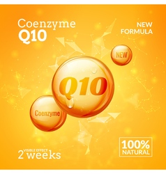 Coenzyme q10 supreme serum collagen oil drop vector