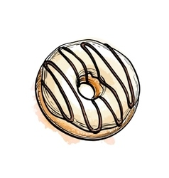donut vector image vector image