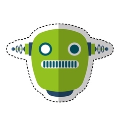Electric robot avatar character vector