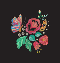 embroidery design vector image