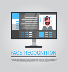 Face recognition technology computer security vector