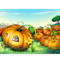 Fariytale pumpkin homes vector