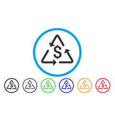 financial recycling rounded icon vector image