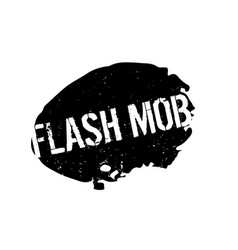 Flash mob rubber stamp vector