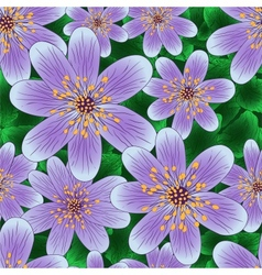Floral seamless pattern with hand-written violets vector image vector image