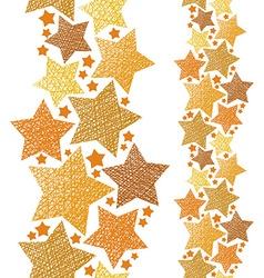 Golden stars seamless pattern vertical composition vector image