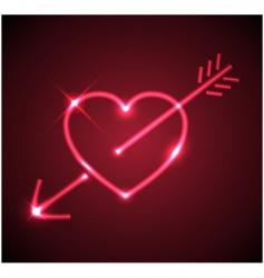 heart with arrow vector image vector image