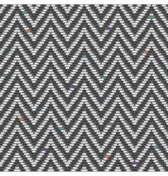Herringbone Tweed pattern in greys repeats vector image