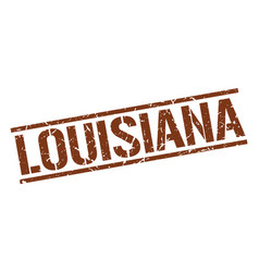 Louisiana brown square stamp vector