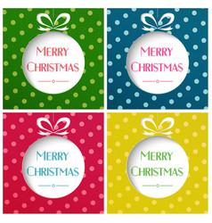 merry christmas balls on vector image
