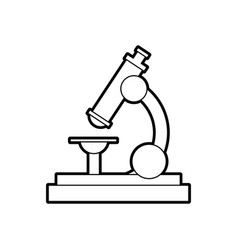 school microscope science biology icon vector image