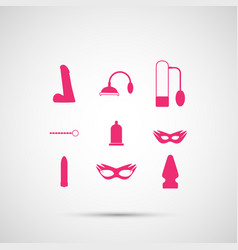 Sex toy set vector